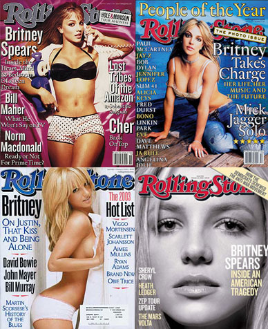 Britney Spears on the cover of Rolling Stone magazine